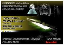 """Conferència """"Creatividad y Técnicas de la Luz"""""""